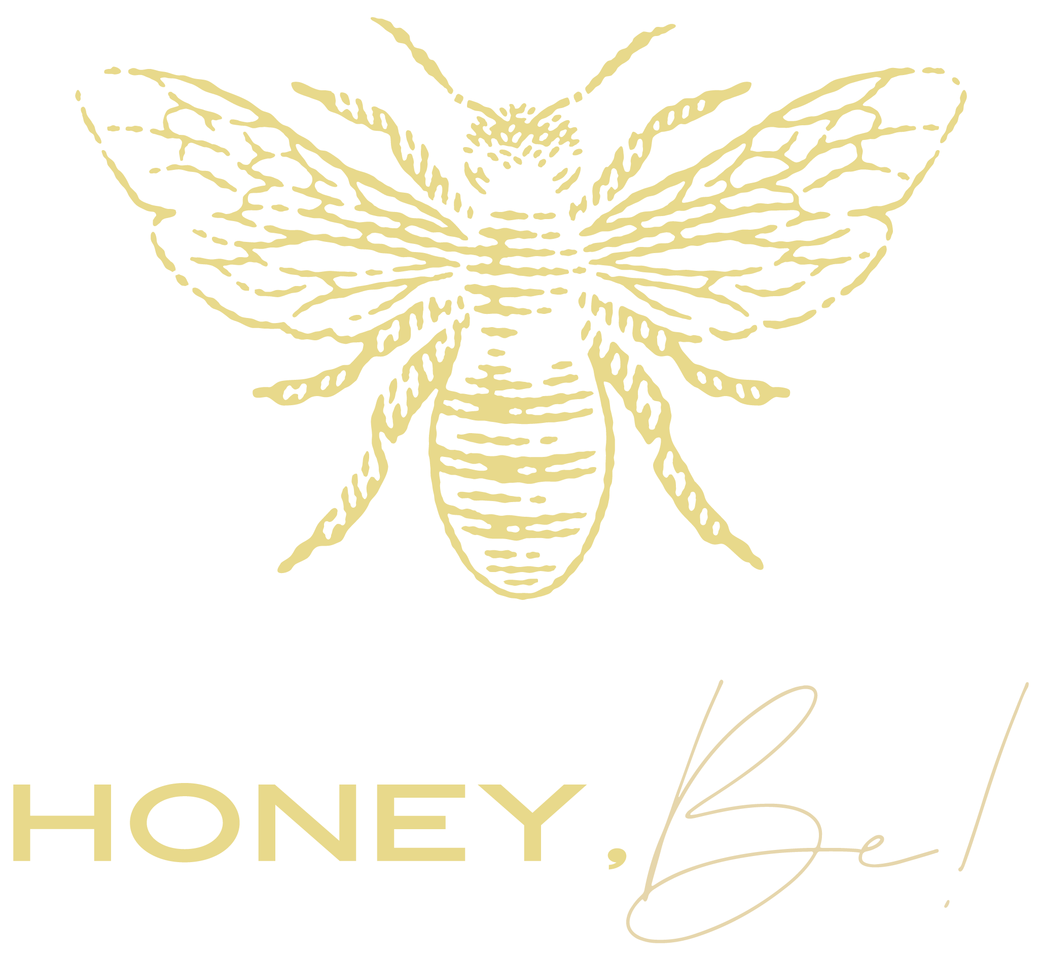 Honey, Be! Starter Logo Deluxe | Fiona Gobbo Creative | Main logo for the selfcare event for women by women in Amersfoort