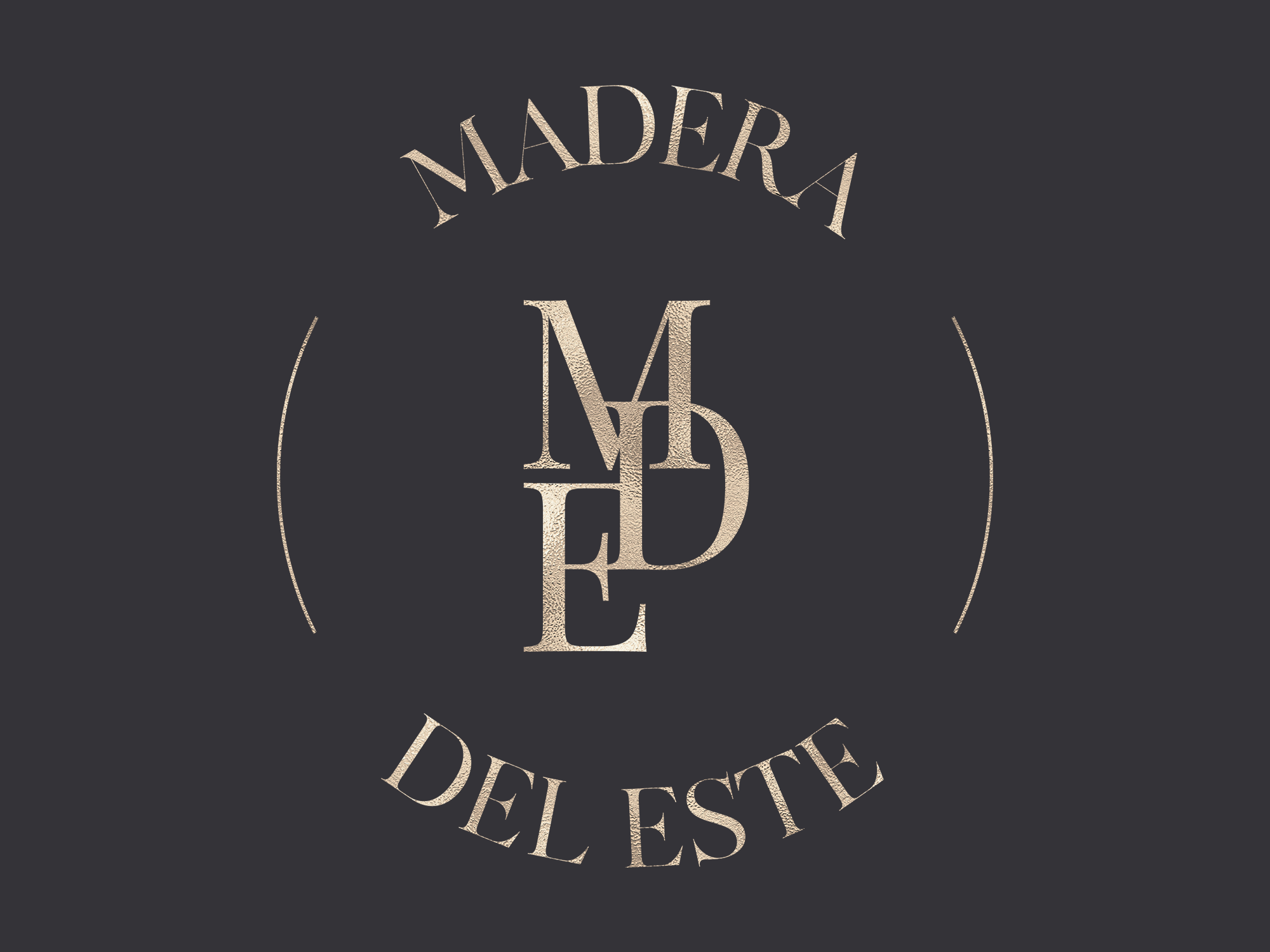 Madera del Este logo | Fiona Gobbo Creative | Main logo for a new luxury bag brand