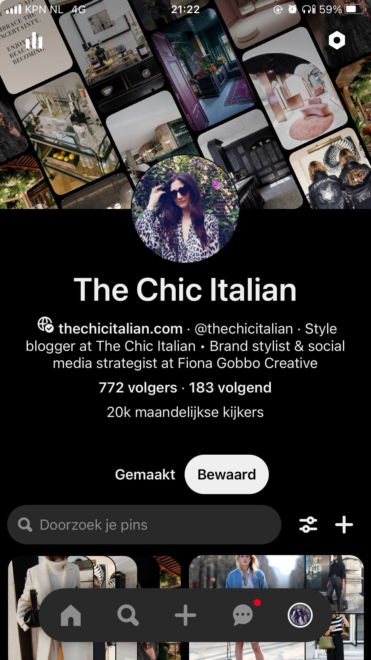 Blog Content Strategy and Content Creation for The Chic Italian | Fiona Gobbo Creative | Social media strategy for Pinterest