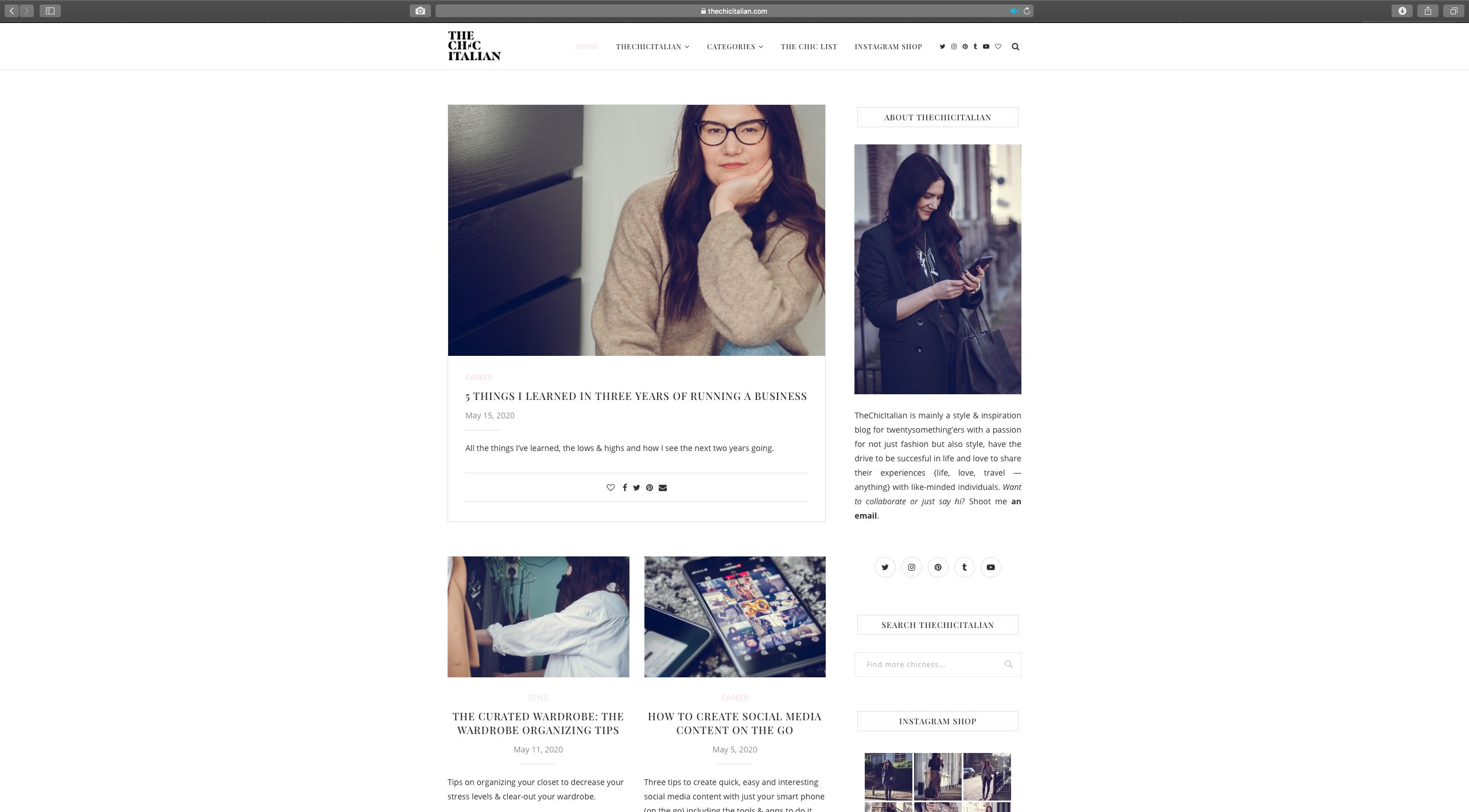 Blog Content Strategy and Content Creation for The Chic Italian | Fiona Gobbo Creative | Blog post example