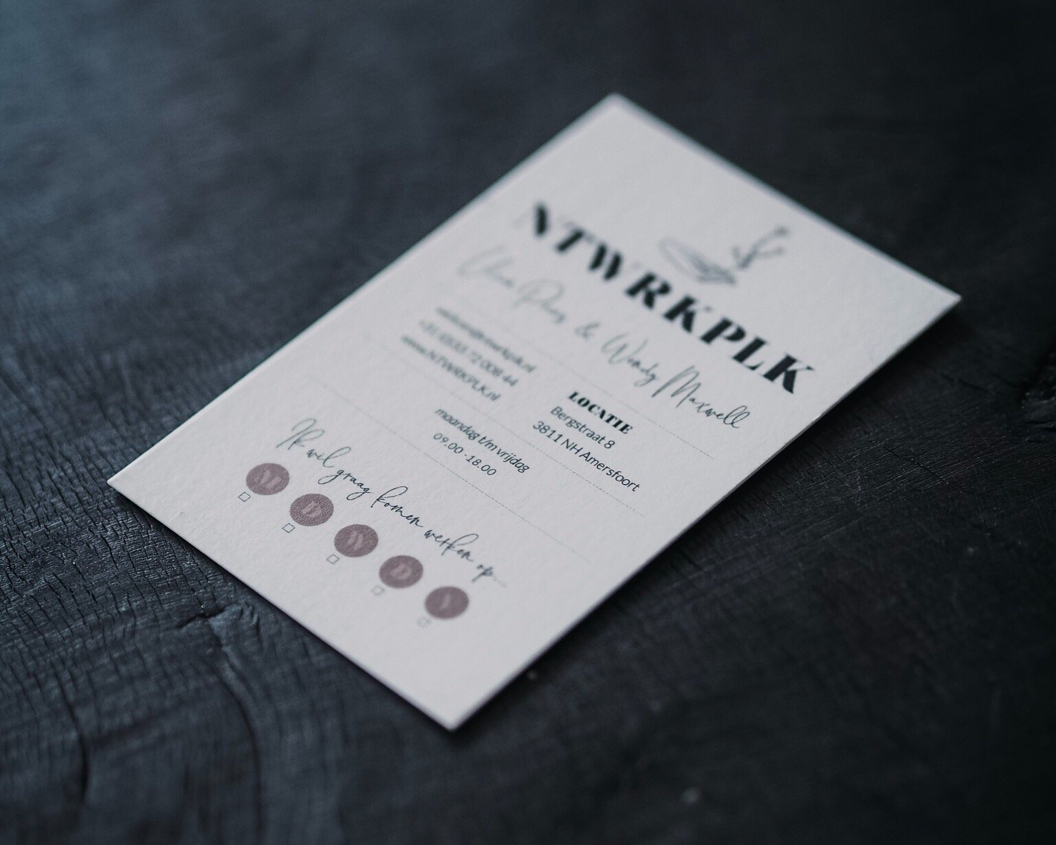 NTWRKPLK brand identity & logo design | Fiona Gobbo Creative | Business cards for THE womens network meetup in Amersfoort