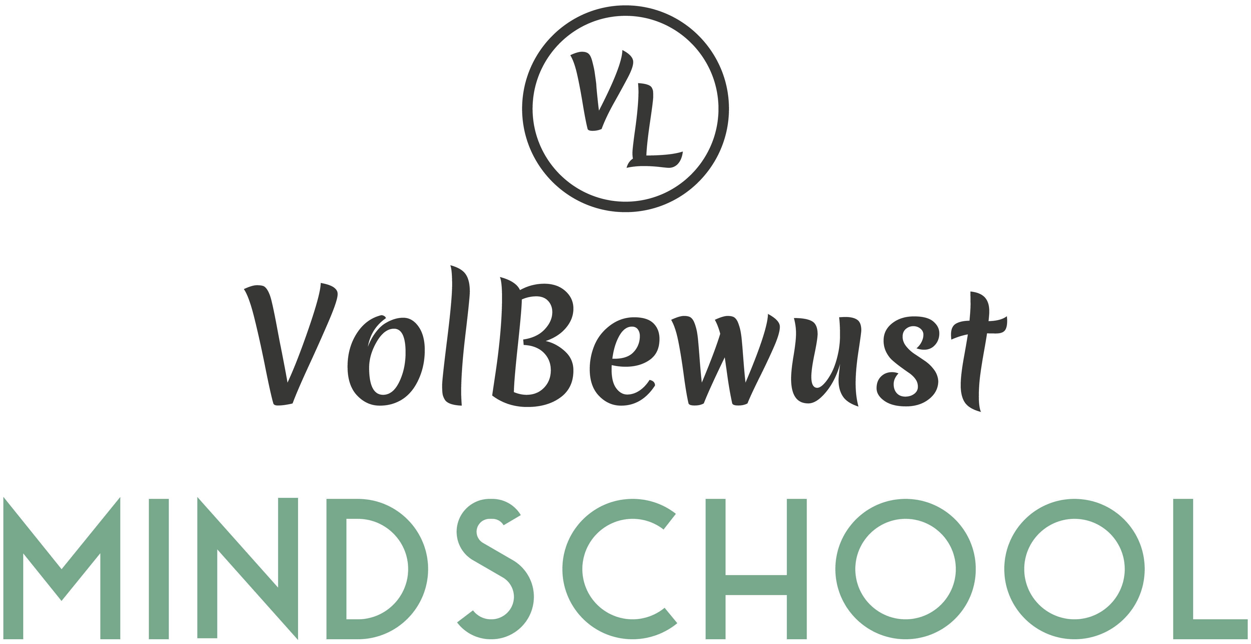 VOLBEWUST MINDSCHOOL | LOGO DESIGN FOR A NEW LABEL | designing a Starterlogo that is recognizable but still has its own identity