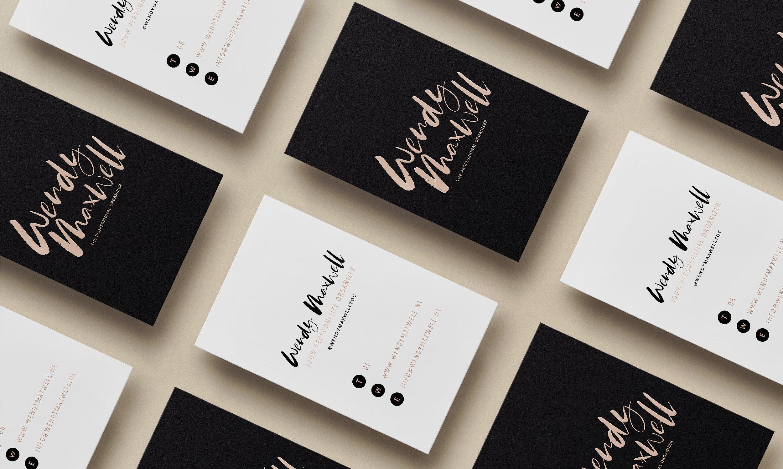 Wendy Maxwell logo rebranding   Fiona Gobbo Creative   Logo rebranding for personal organizer including business cards