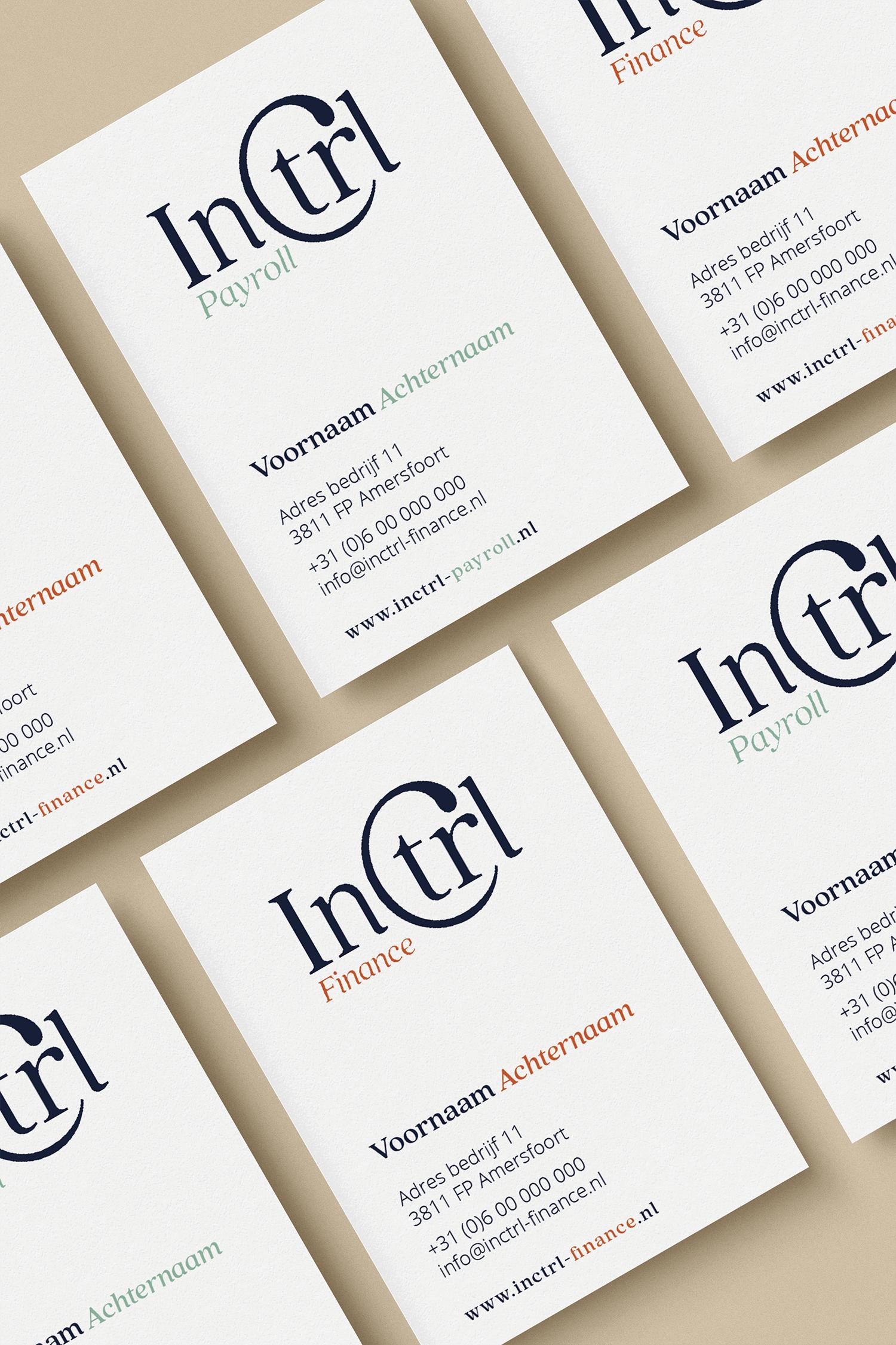 InCTRL Corporate brand Identity | Fiona Gobbo Creative | InCTRL business cards
