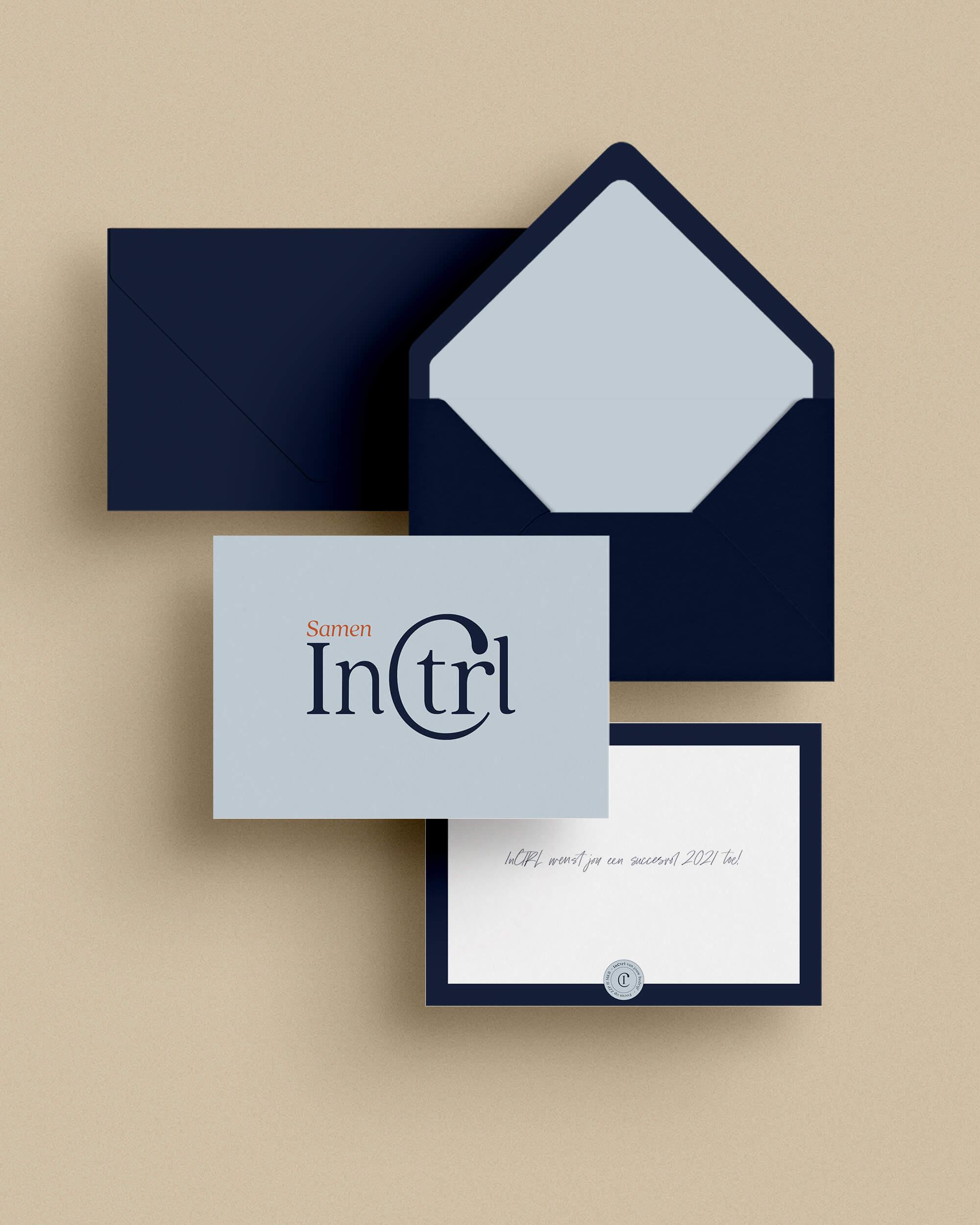 InCTRL Corporate brand Identity | Fiona Gobbo Creative | InCTRL stationary mock-up