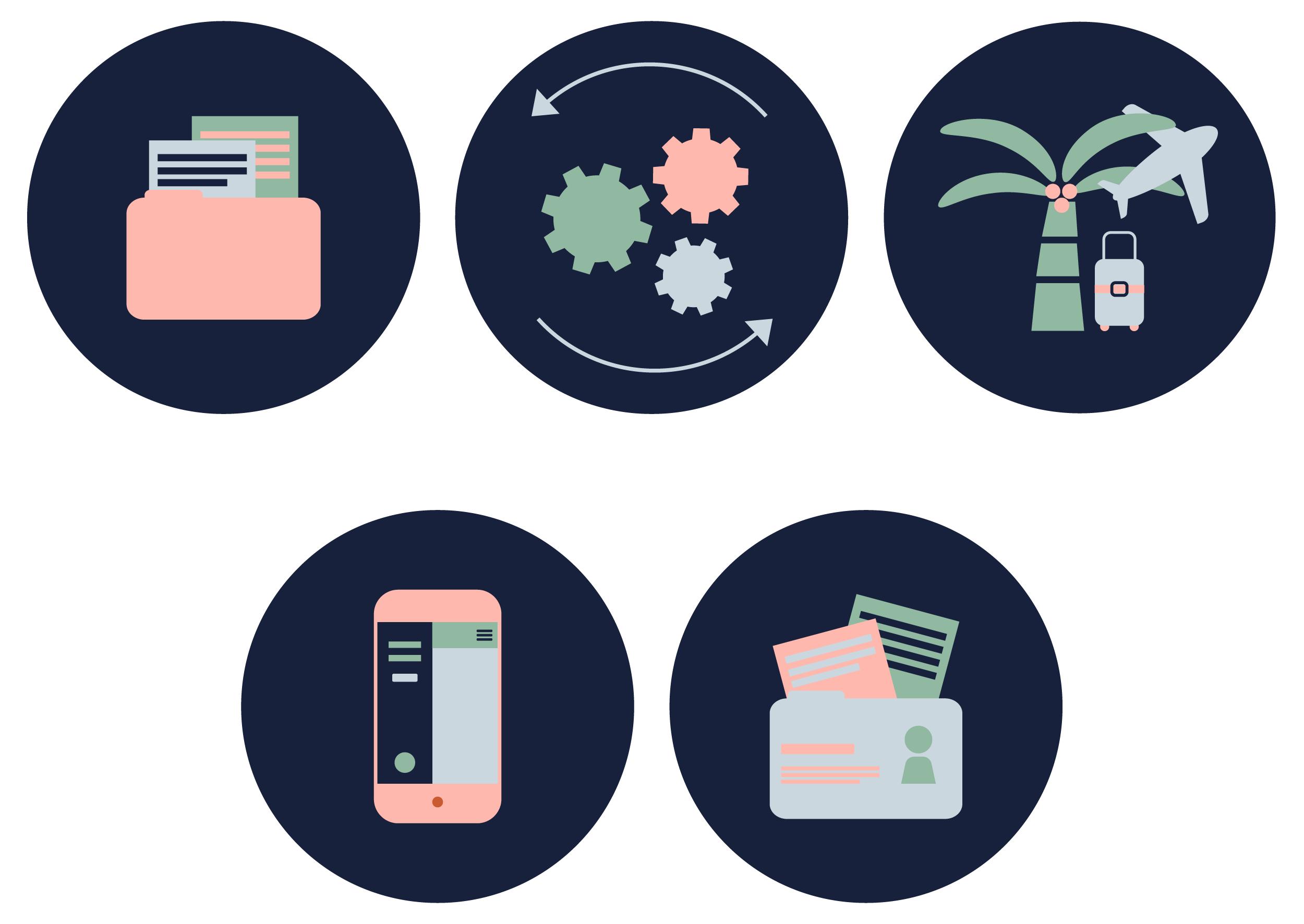 InCTRL BRAND IDENTITY | Fiona Gobbo Creative | InCTRL Payroll icons