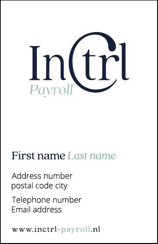 InCTRL BRAND IDENTITY | Fiona Gobbo Creative | InCTRL Payroll business card
