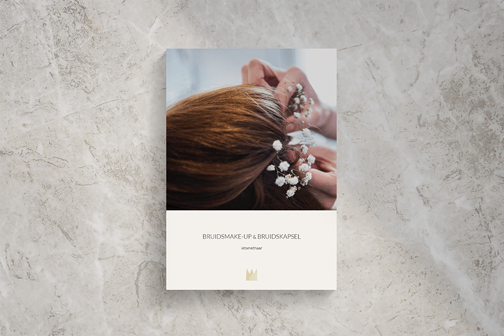 Wedding makeup and hair trial proposal design | Fiona Gobbo Creative | For hairstylist & makeup artist ietsmethaar to attract and inform (potential) clients