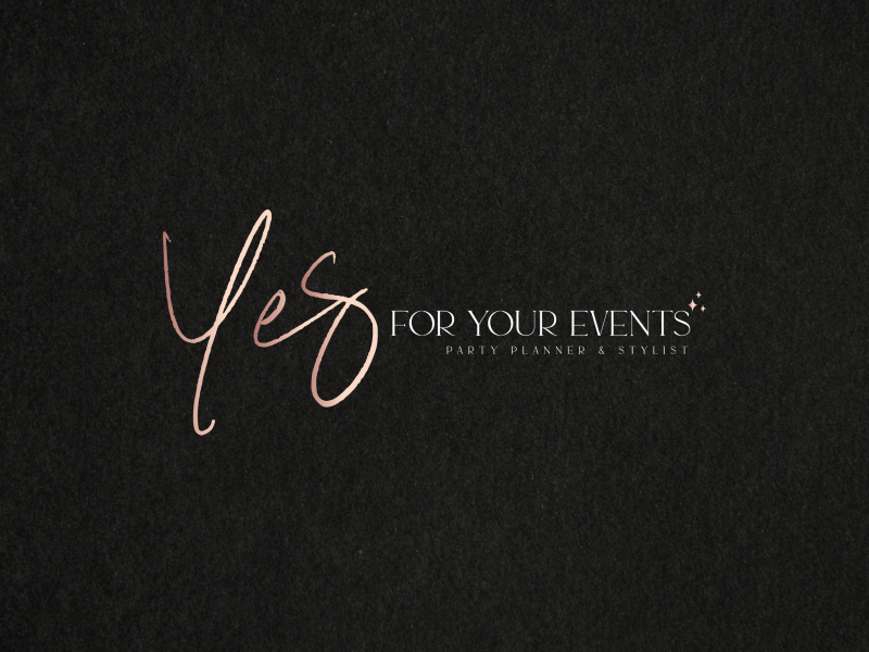YES FOR YOUR EVENTS | EVENT PLANNER LOGO DESIGN | Logo design for event planner & stylist Yes for your Events